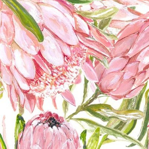 Painted Proteas - Large