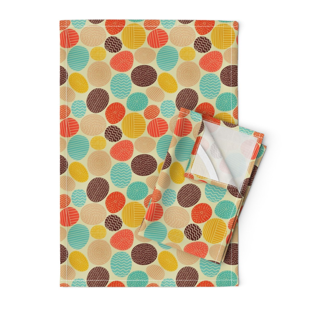 Orpington Tea Towels featuring stones by toy_joy