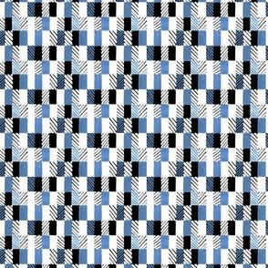 Geometry blue pattern