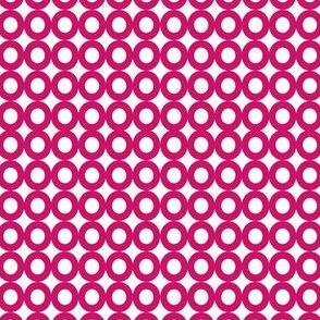 Modern Whimsy Circles Dark Pink