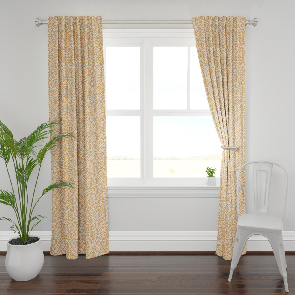Plymouth Curtain Panel featuring Lula citrus by lilyoake