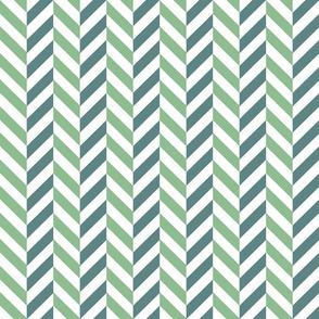 zigzag chevron green on white small scale