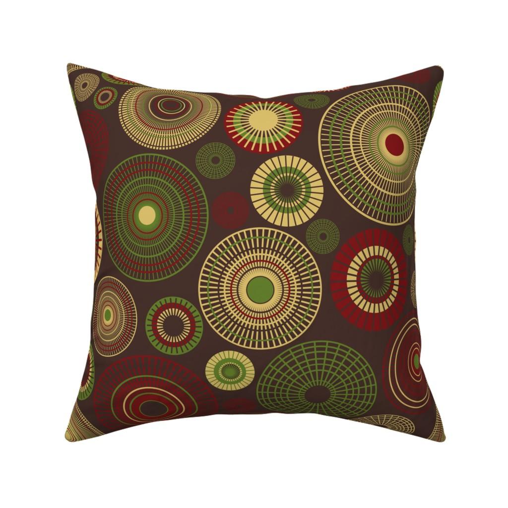 Catalan Throw Pillow featuring dahlia garden picnic grey by colorofmagic