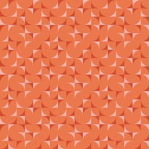 mid century tiles - Surf's Up Collection coordinate in sunset orange2