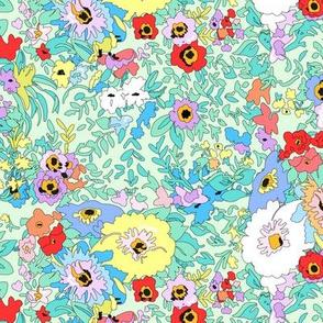 Floral Vintage Garden Bouquet - Large - Summertime