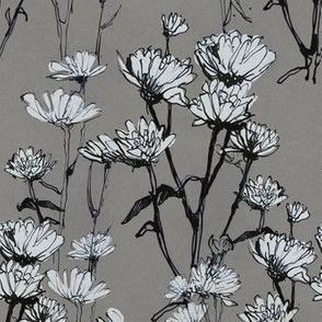 flower seamless pattern ink graphic
