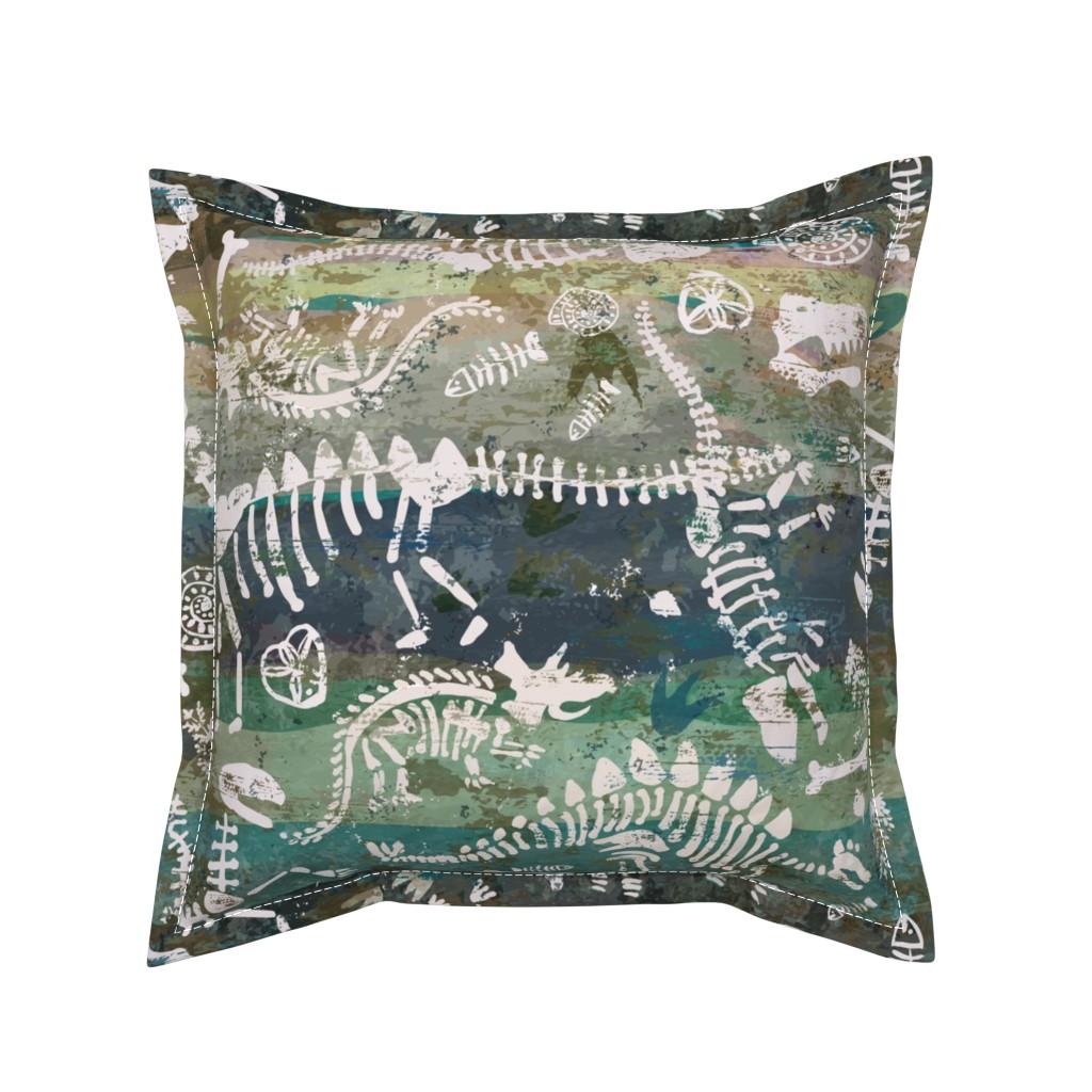 Serama Throw Pillow featuring Sedimentary Discovery by sarah_treu