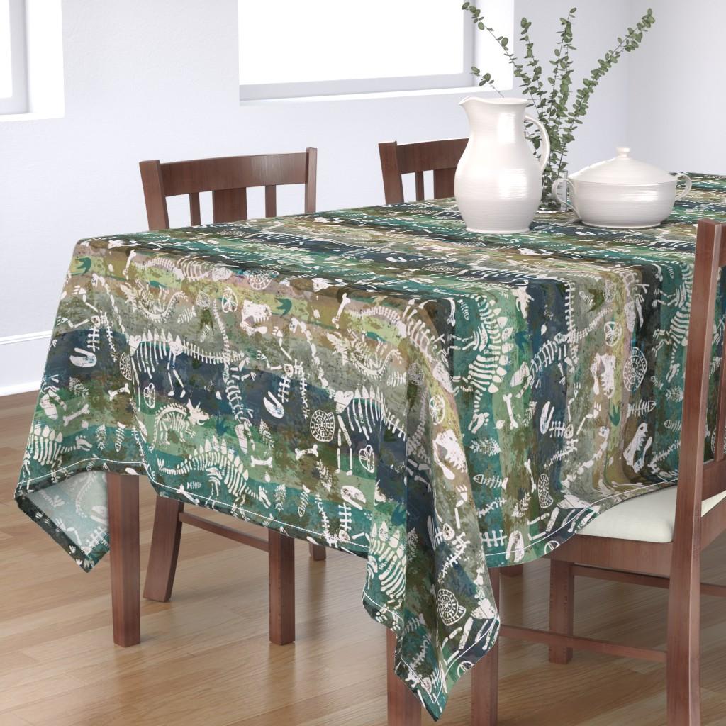 Bantam Rectangular Tablecloth featuring Sedimentary Discovery by sarah_treu