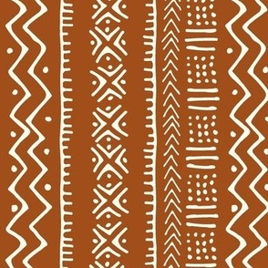 Mud Cloth II // Ivory on Golden Brown // Small