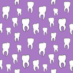 Teeth purple