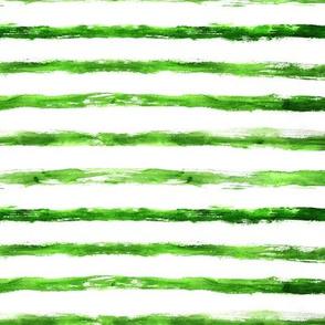 Grungy green brushstroke stripes, horizontal
