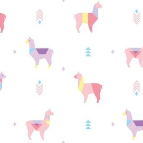 Color Block Alpaca Geo Pink Purple copy