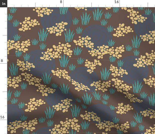 Tissu au mètre jardin, terreux, décoration de maison, literie, désert,  dinosaure, en tissu, roches