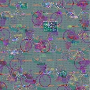 Dark Pink Bicycles