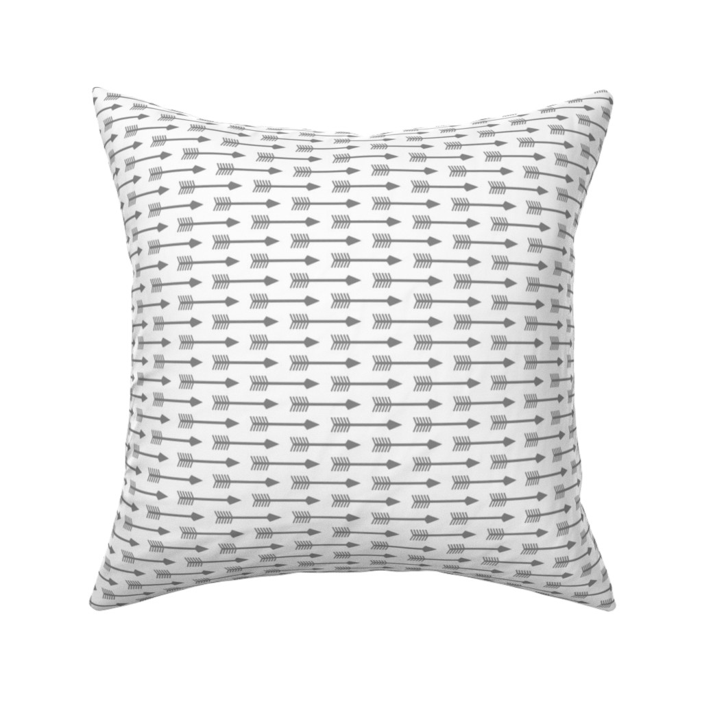 Catalan Throw Pillow featuring Arrows on White - Horizontal by themadcraftduckie