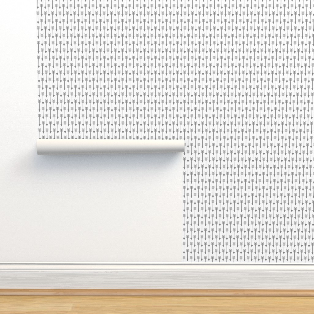 Isobar Durable Wallpaper featuring Arrows on White - Vertical by themadcraftduckie