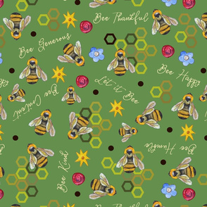 Bee Thankful (Green)