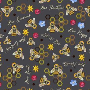 Bee Happy (Slate)