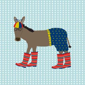 Donkey in Beanie Fat Quarter