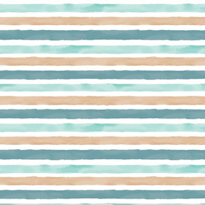 Large Watercolor Stripe