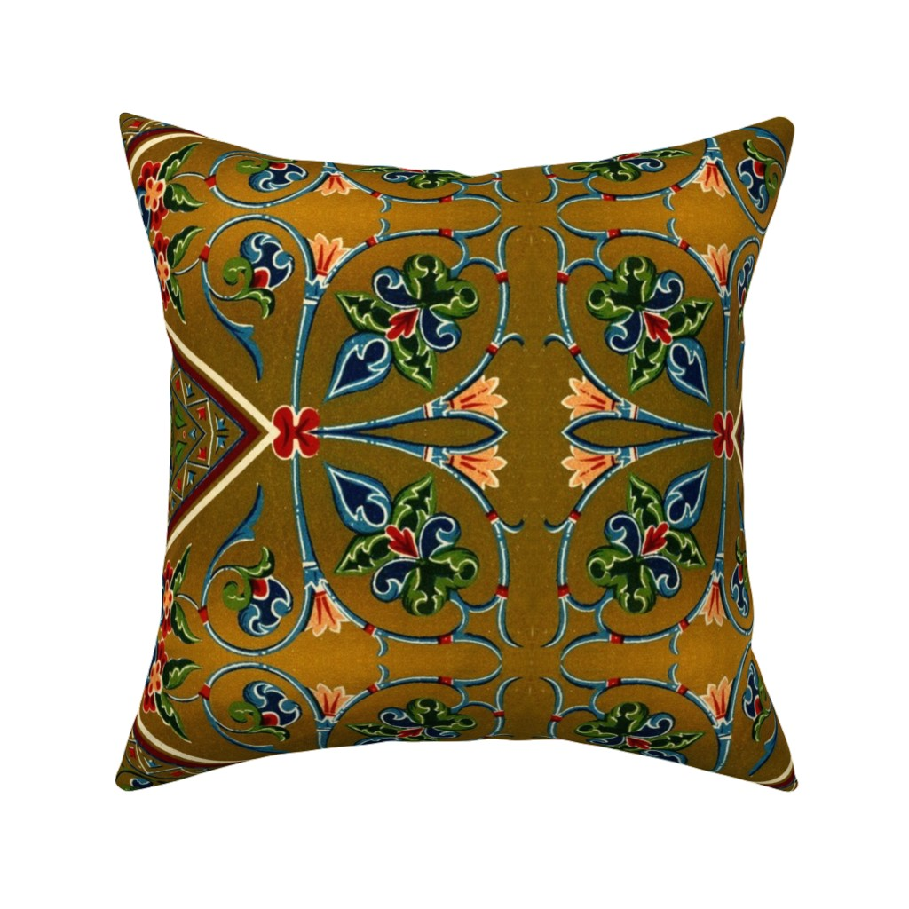 Catalan Throw Pillow featuring bizantine 143 by hypersphere