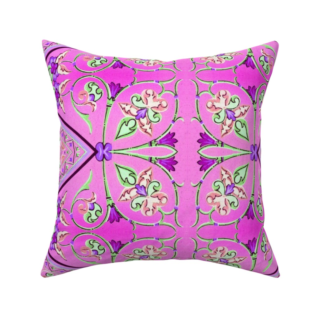 Catalan Throw Pillow featuring bizantine 141 by hypersphere
