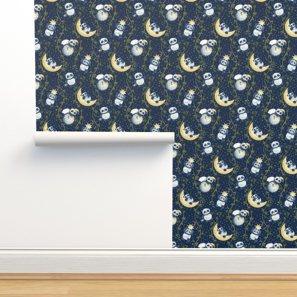 Isobar Durable Wallpaper featuring Sh, Sh, Panda Is Sleeping by marketa_stengl