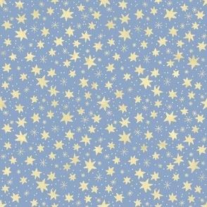 Yellow Stars on Light Blue
