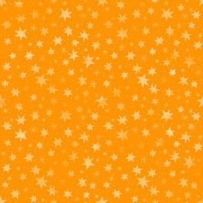 Orange Sky and Stars