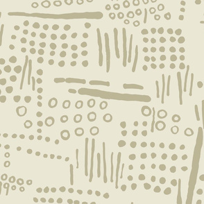 Abstract Tribal (Cream and Taupe)