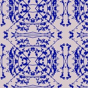 China (Cobalt on Lavender)