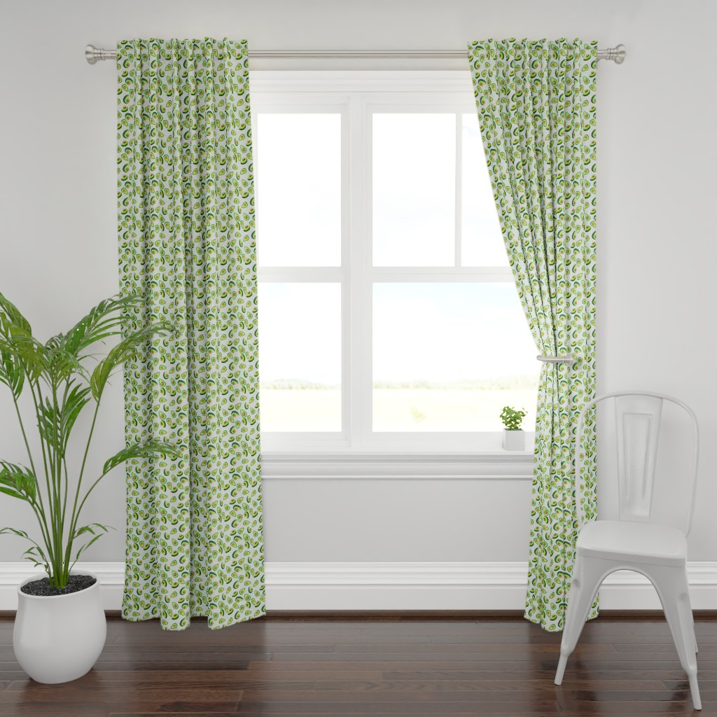Plymouth Curtain Panel featuring Avocado Love by lalaliz