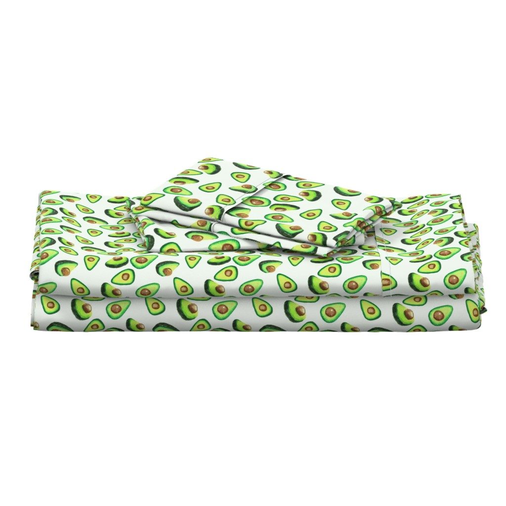 Langshan Full Bed Set featuring Avocado Love by lalaliz