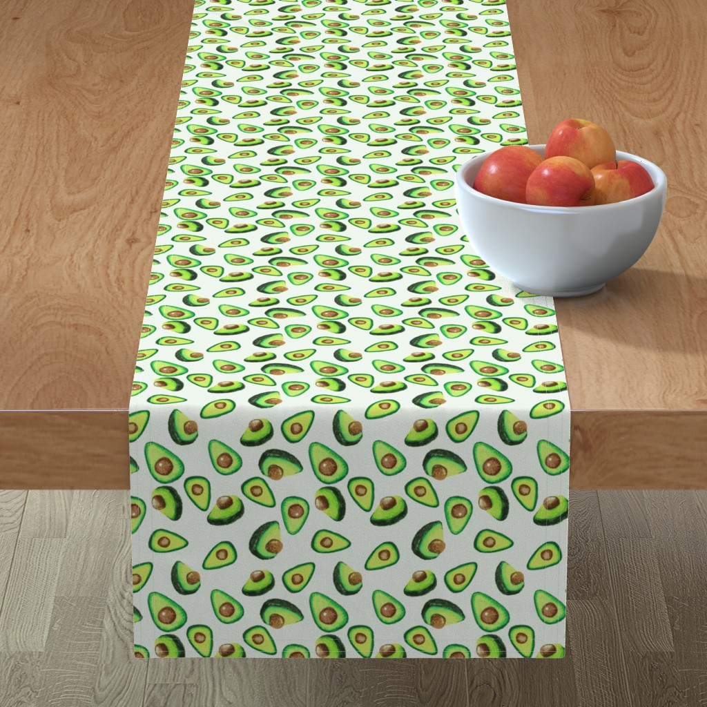 Minorca Table Runner featuring Avocado Love by lalaliz