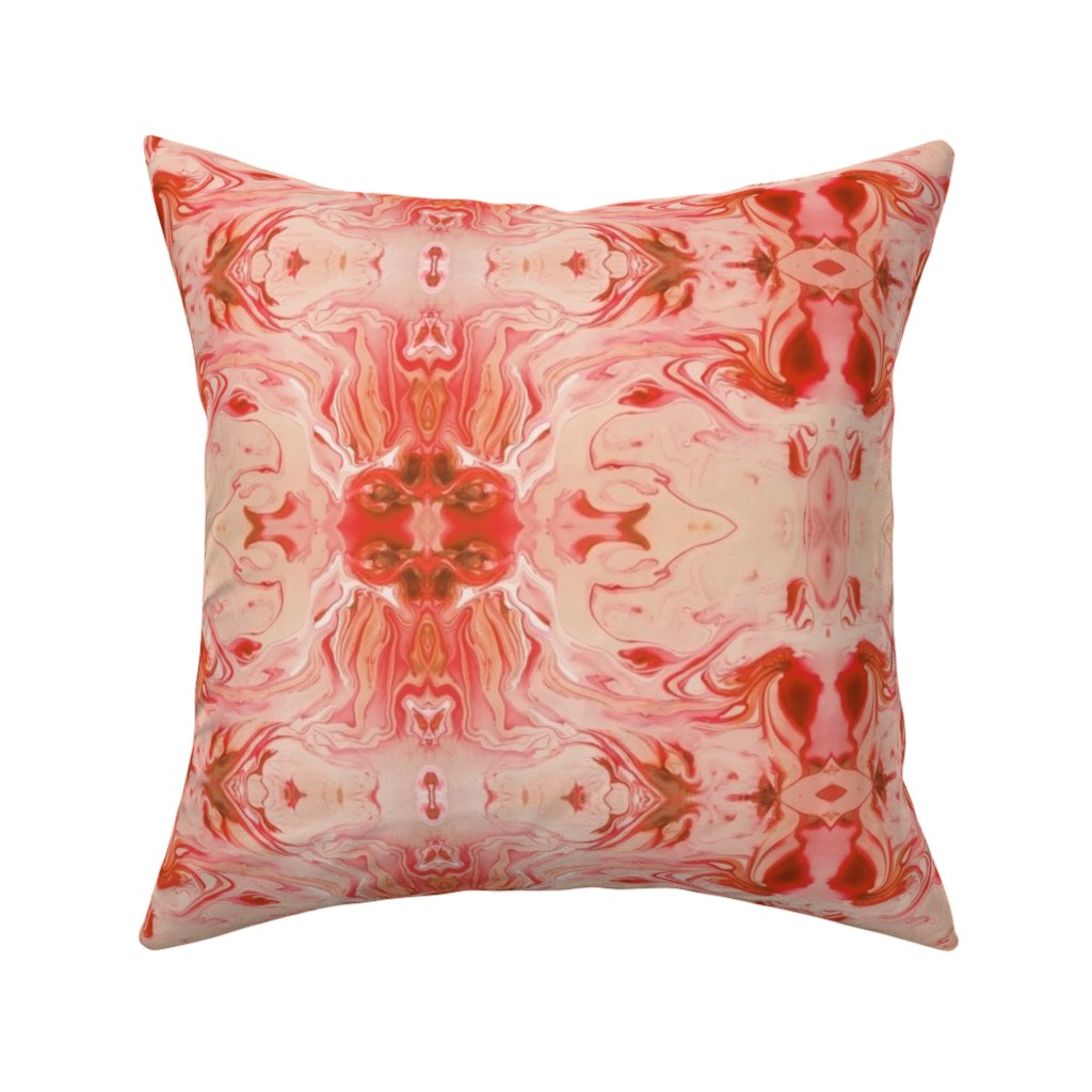 Catalan Throw Pillow featuring Marble Texture Stone Swirl Light Pink, Pink, Peach, Coral, Salmon by furbuddy