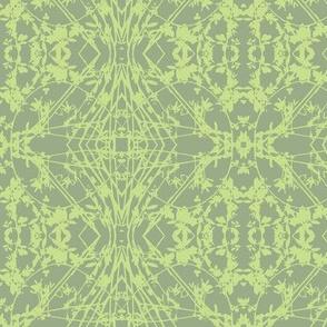 Zig-zag (Slate Green & Lime)