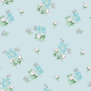 Vintage Bloom Blue