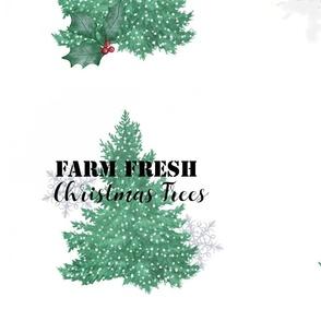 Christmas Tree Farm Truck Pillows
