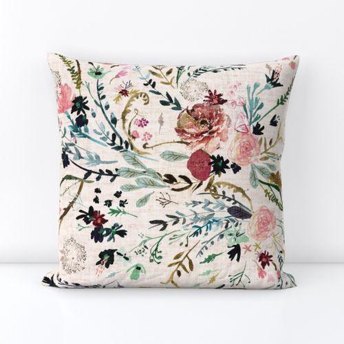 Blushing Paisley Pillow Cover Set