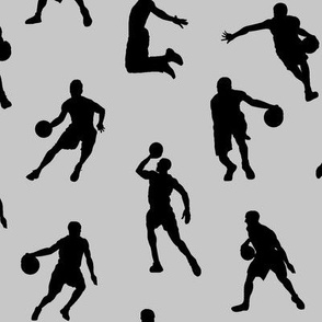 Basketball Players on Silver // Large