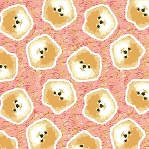 Big Bad Floof - Cream/Pink Pomeranian Print