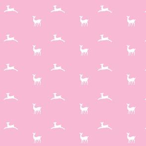 Deer 2 - MED58 bubblegum pink  white