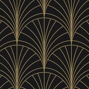 Floral Burst Gold on Charcoal
