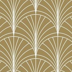 Floral Burst White on Gold