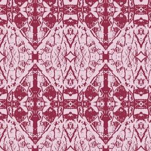 Saplings  (Red on Pink)