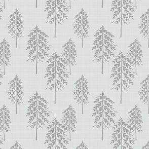 Trees - Grey Linen