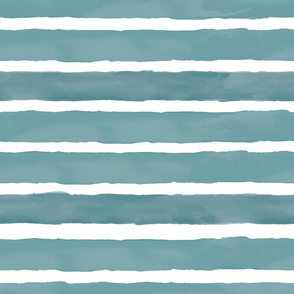 Teal Watercolor Stripes