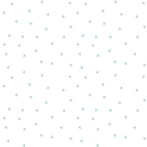 French Country Floral-Mint Polka Dots