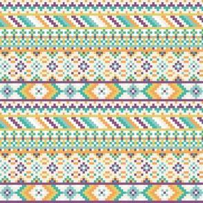 Tribal Geometric Aztec Rows