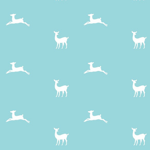 Deer 2 - mint white
